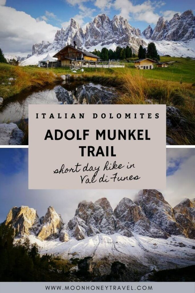 Adolf Munkel Trail, Short Hike in Val di Funes, Italy