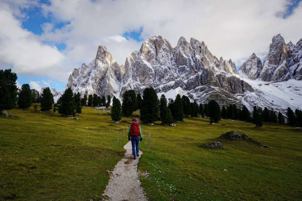 Adolf Munkel Trail, Geisler Group, Val di Funes, Dolomites, Italy
