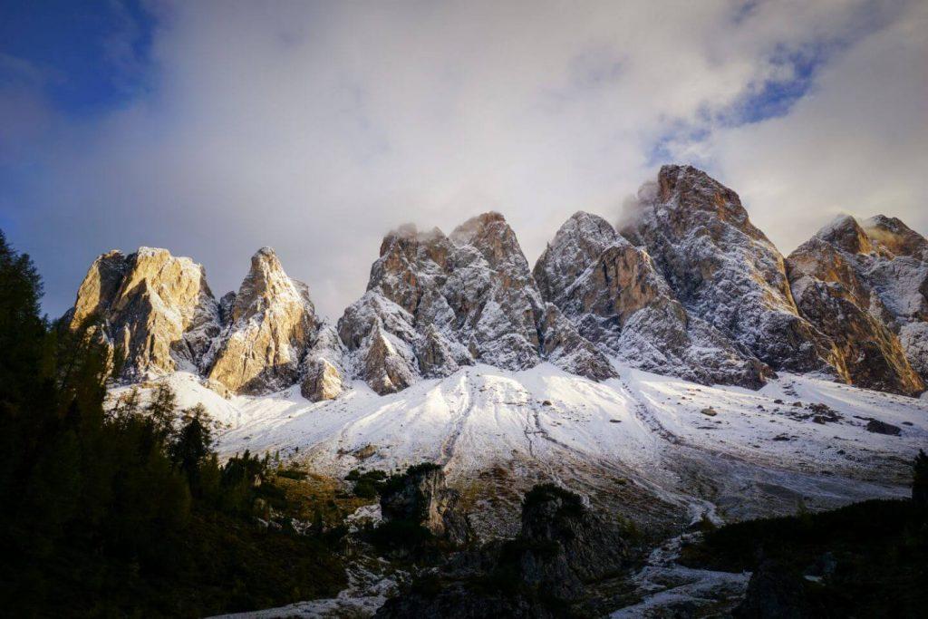 Geisler Group, Adolf Munkel Trail, Val di Funes, Dolomites