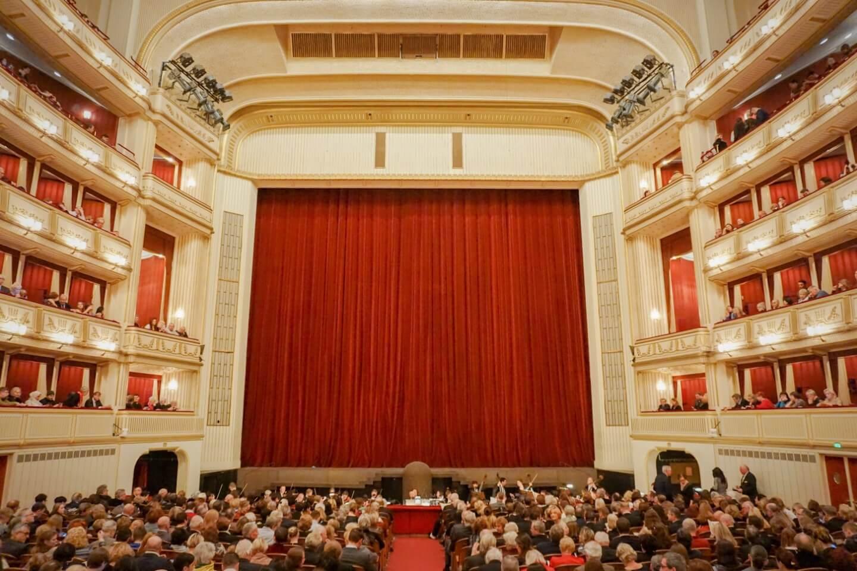 View from the Parterrestehplatz, Vienna State Opera, Austria