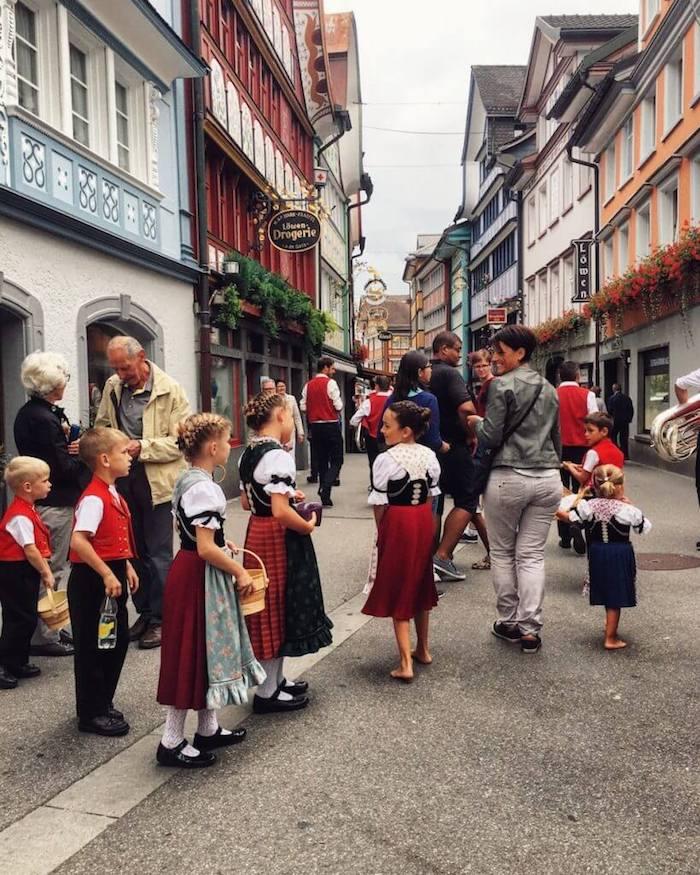 Folk Music Festival in Appenzell, Switzerland