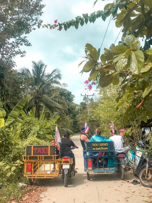 Taxis on Koh Mook, Thailand Island Hopping | Moon & Honey Travel