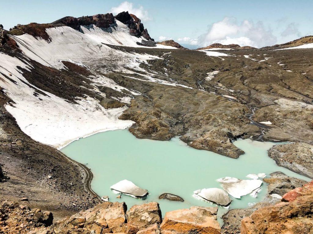 Melting Glacier, Mt Ruapehu, New Zealand