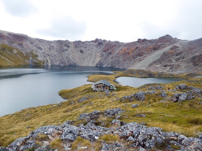 Lake Angelus Hut in Nelson Lakes National Park