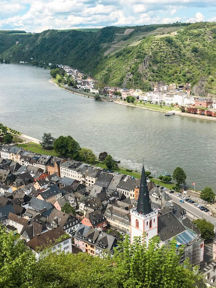 View of the Rhine from the Rhine Castle Trail, Romantic Rhine Valley, Germany | Moon & Honey Travel