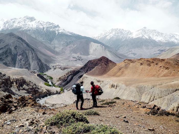 Hikers on the Annapurna Circuit, Nepal