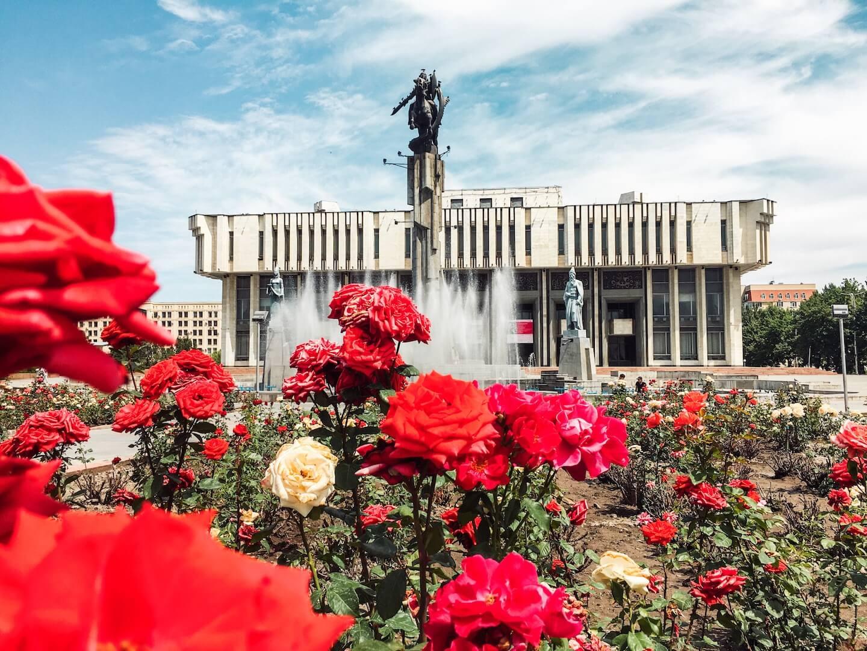 Bishkek Philharmonic Hall and Statue of Manas, Bishkek, Kyrgyzstan Travel Guide | Moon & Honey Travel