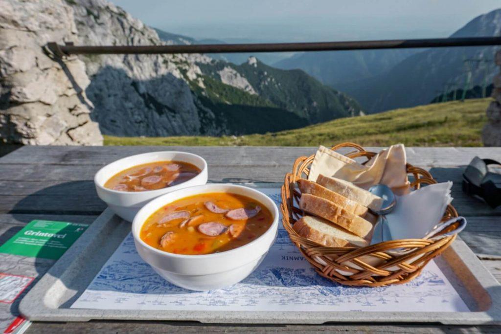 Lunch at Cojzova koča na Kokrskem sedlu , Hiking Kamnik-Savinja Alps, Slovenia, 4 Day Hiking Tour | Moon & Honey Travel