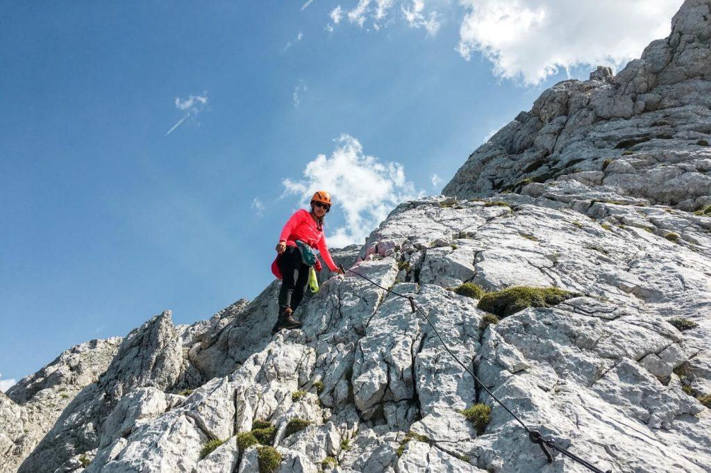 Climbing up Mount Brana, Hiking Kamnik-Savinja Alps, Slovenia, 4 Day Hiking Tour | Moon & Honey Travel