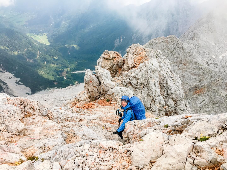 Below the summit of Grintovec, Hiking Kamnik-Savinja Alps, Slovenia, 4 Day Hiking Tour | Moon & Honey Travel