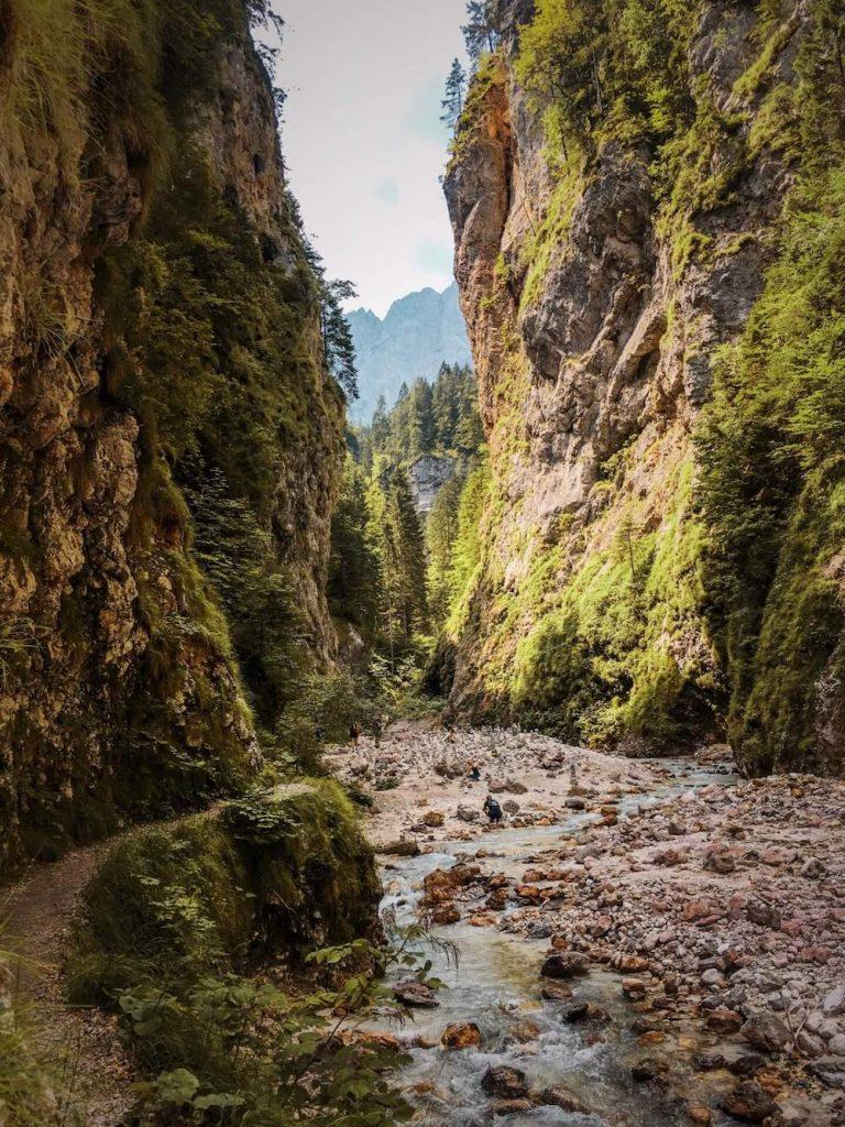 Martuljek gorge, Kranjska Gora, Slovenia, hiking in Slovenia