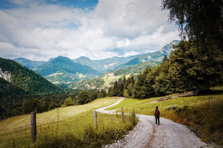Descending to Zgornje Jezersko, Kamnik-Savinja Alps Hike, Slovenian Alps