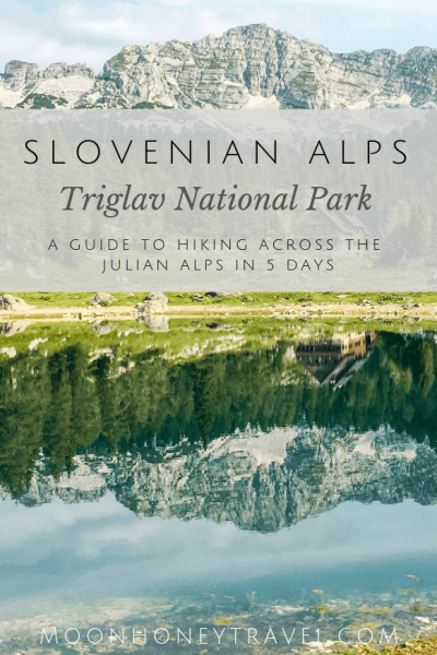 Triglav National Park, Slovenian Alps, Hut to Hut Hiking route across the Julian Alps