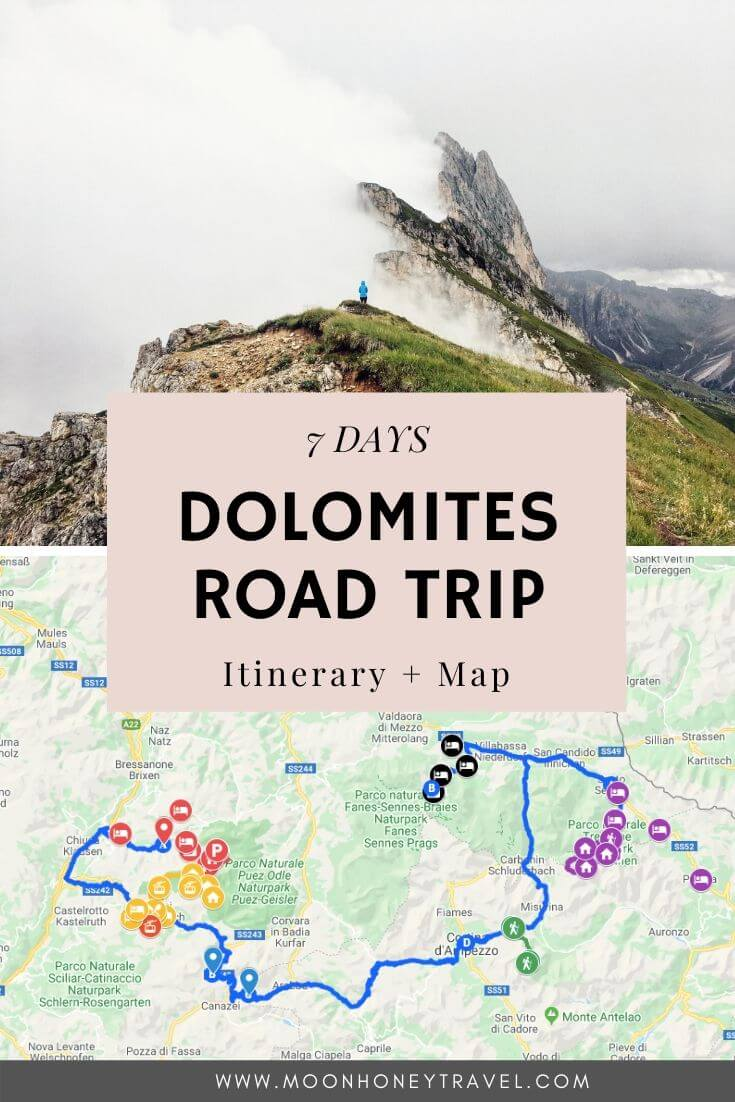 Dolomites Itinerary: 7 Days Road Trip