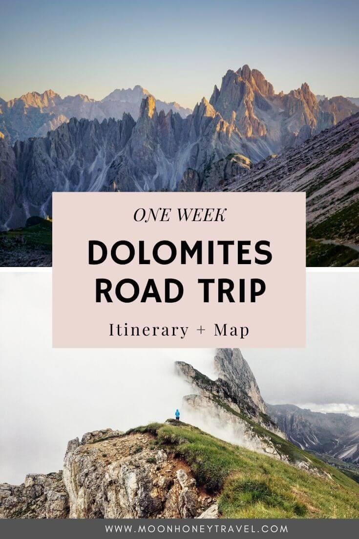 Dolomites Road Trip Itinerary One Week