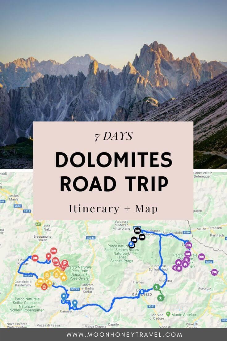 Dolomites Road Trip 7 Days