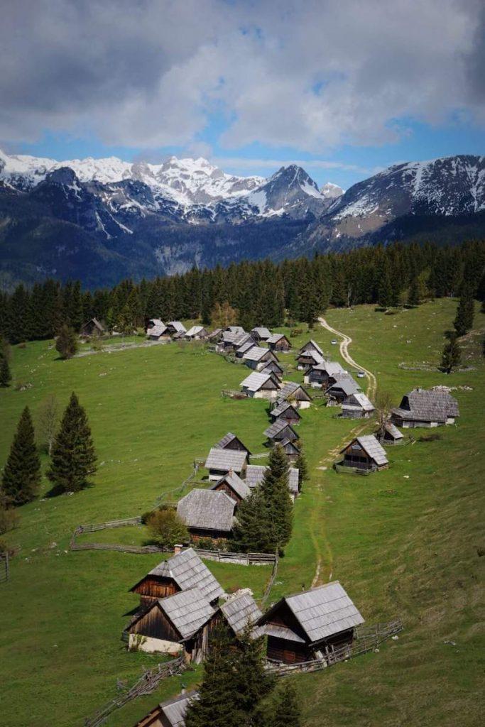 Mountain Pasture Zajamniki Herdsmen Huts, Triglav National Park, Slovenia