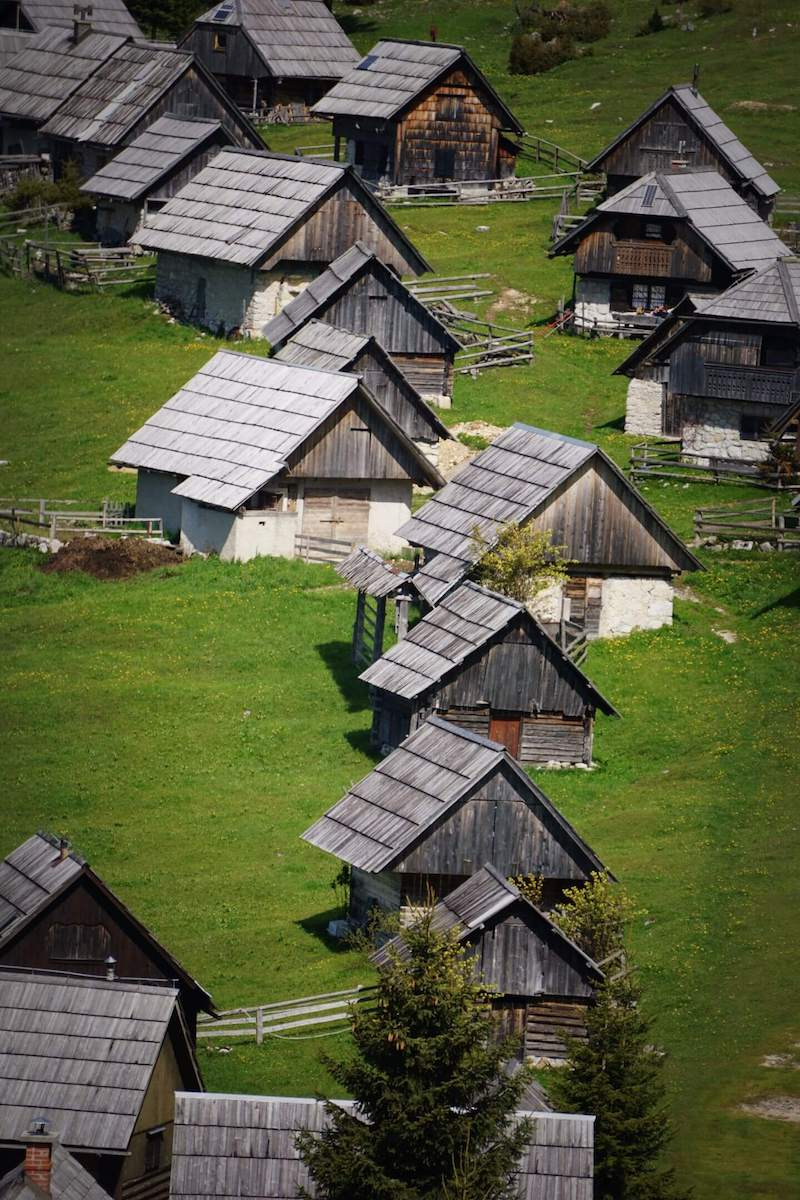 Planina Zajamniki Herdsmen Huts, Pokljuka Plateau, Slovenia