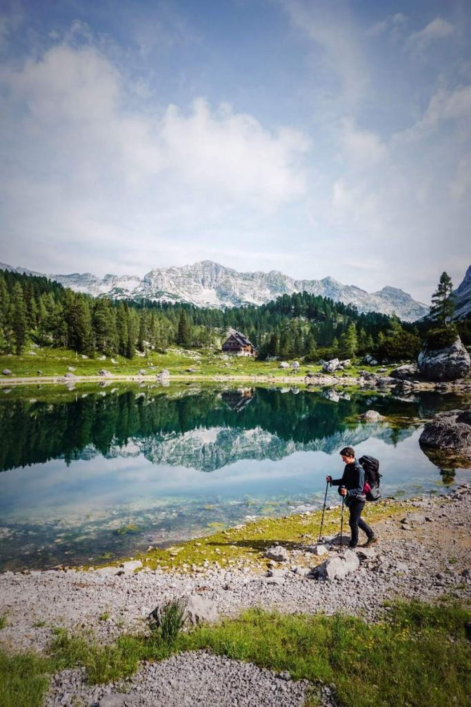 Dvojno Jezero, Seven Lakes Valley, Julian Alps Hiking Trail