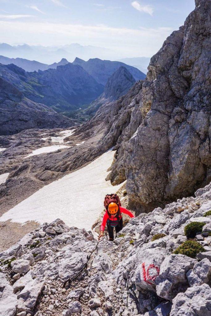 Kanjavec summit hike, Julian Alps hiking trails, Slovenia