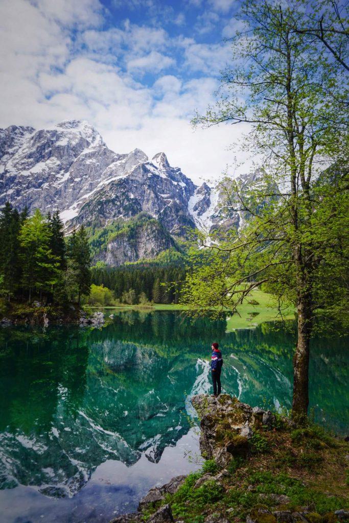 Lago di Fusine Superiore, Julian Alps, Italy