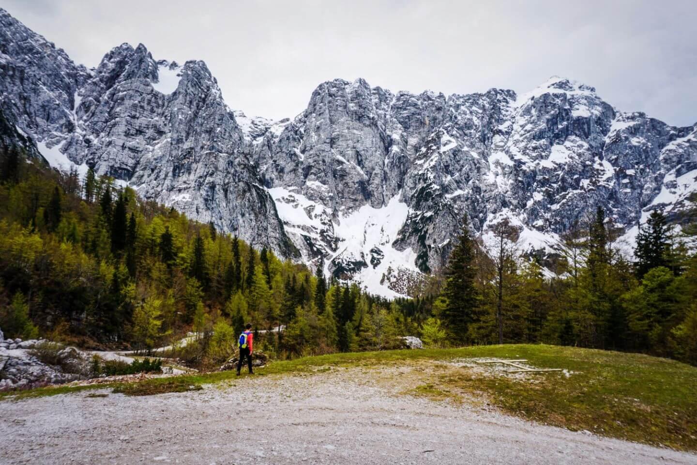 View from Rifugio Luigi Zacchi, Julian Alps, Italy - Mangart