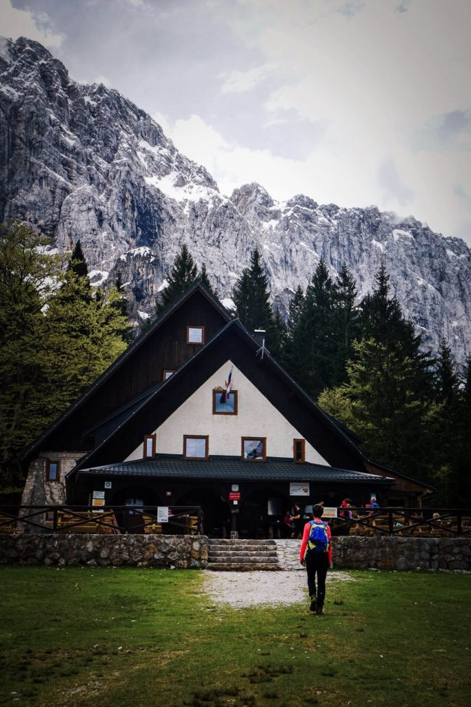 Tamar Mountain Hut, Planica Valley, Hiking in the Julian Alps, Slovenia