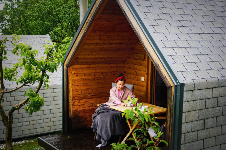 Tourist Farm Kranjc Glamping Cabin, Kobarid Accommodation, Slovenia