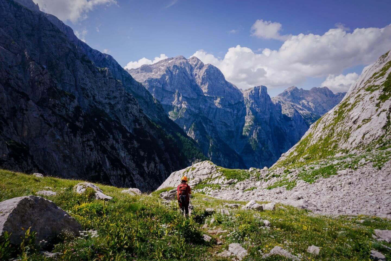 Bovški Gamsovec to Luknja, Triglav National Park Hut to Hut Hike, Julian Alps