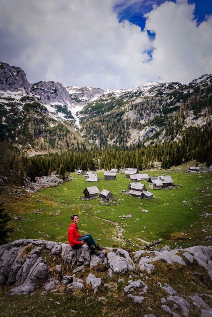 Planina v Lazu mountain pasture in the Julian Alps