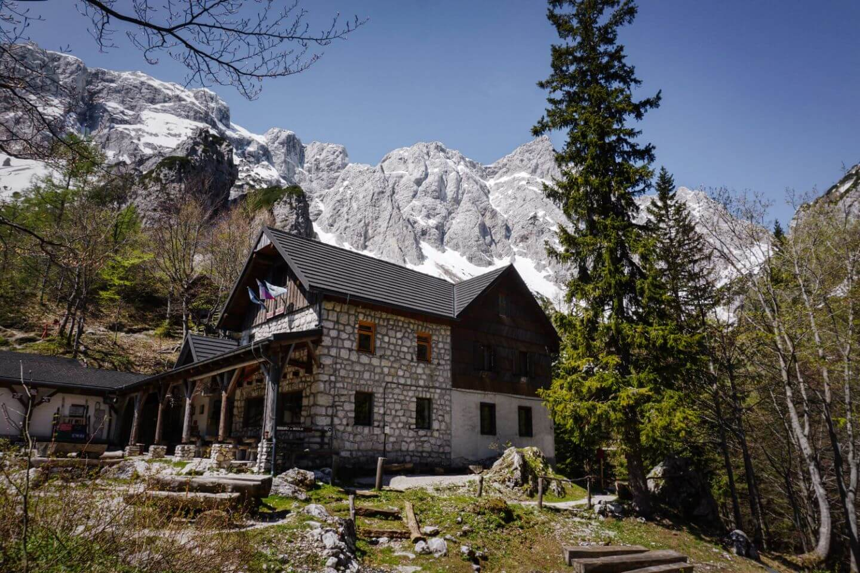 Frischaufov dom na Okrešlju mountain hut, day hike from logar valley, Slovenia