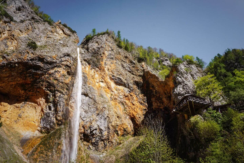 Slap Rinka, Logar Valley waterfall, Slovenia
