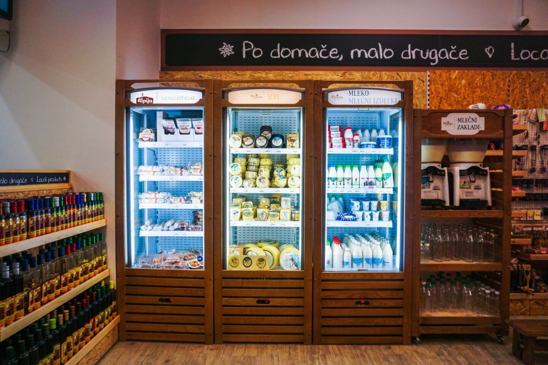 Planika Mlekarna, Planika Cheese Factory Shop, Kobarid, Slovenia
