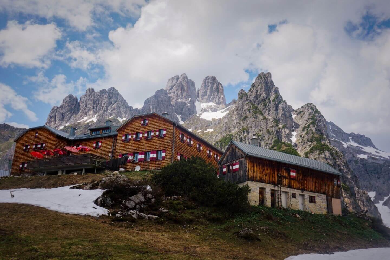 Hofpürglhütte, Gosaukamm, Dachstein, Österreich