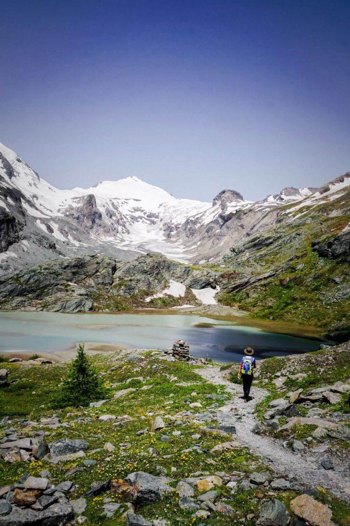 Wandern beim Sandersee, Grossglockner, Nationalpark Hohe Tauern