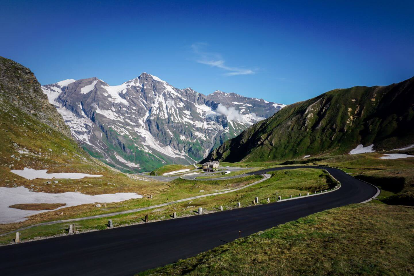 Driving the Grossglockner High Alpine Road, Austrian Alps, Austria