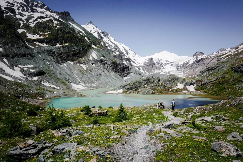 Sandersee und Pasterze, Hohe Tauern National Park, Österreich, Wandern bei der Großglockner Hochalpenstraße