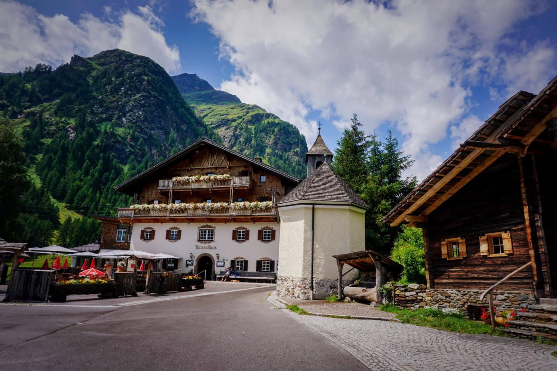 Matreier Tauernhaus and Chapel, Hohe Tauern, Osttirol, Austrian Alps