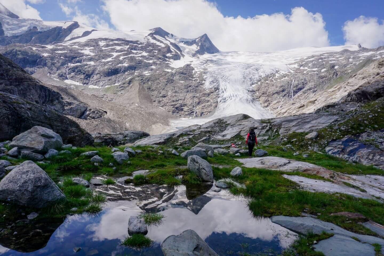 Gletscher der Venediger Gruppe, Wanderweg Innergschlöß Gletscherweg, Österreich