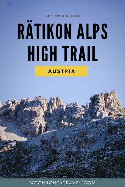 Rätikon Höhenweg, in Österreich und der Schweiz