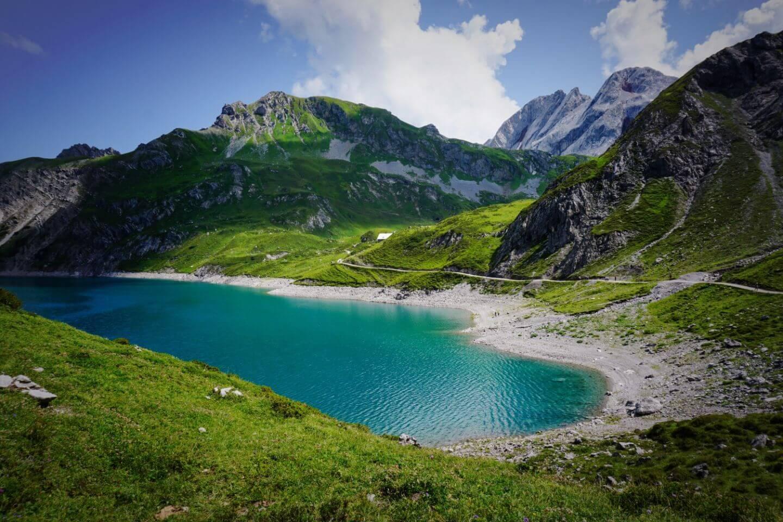Hiking Lünersee, Rätikon Alps, Austria