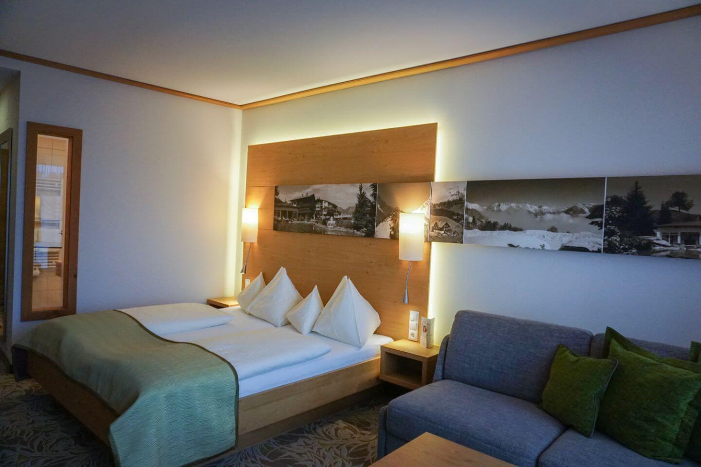 Schillerkopf Alpine Resort bedroom - where to stay before trekking Rätikon