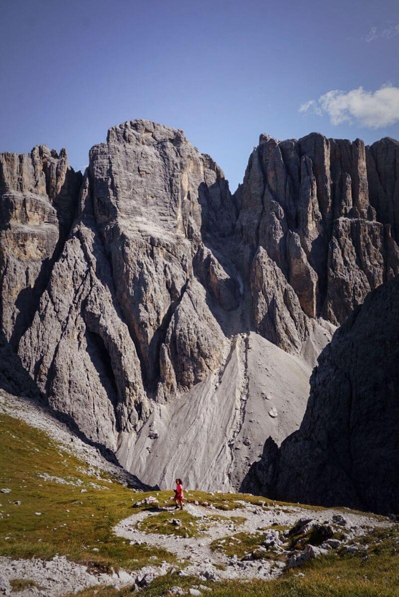 Hike to Val de Misdé (Val de Mezdi) from Pisciadu, Dolomites, Italy