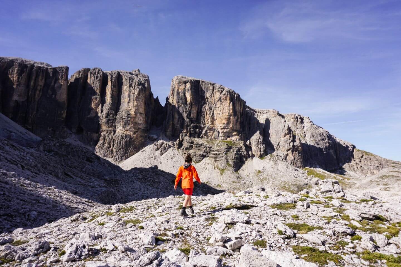 Alta Badia summer chairlifts in September - Boe gondola from Corvara