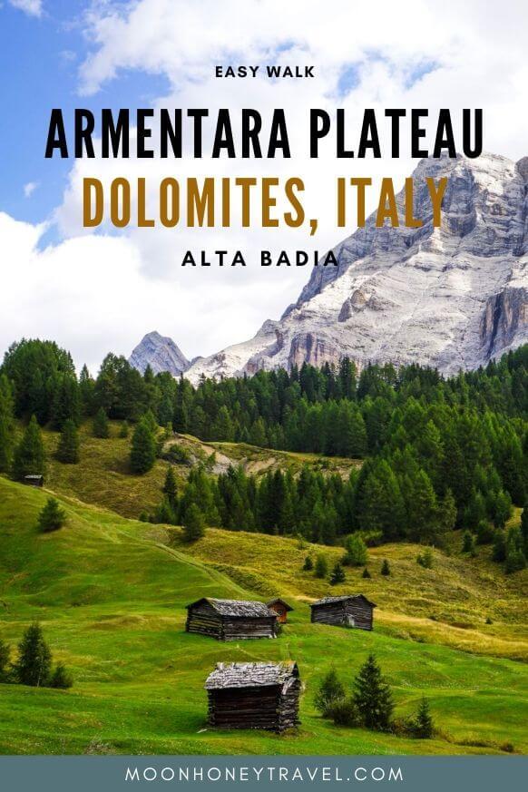 Armentara Plateau - Easy walk in Badia, Alta Badia, Italian Dolomites