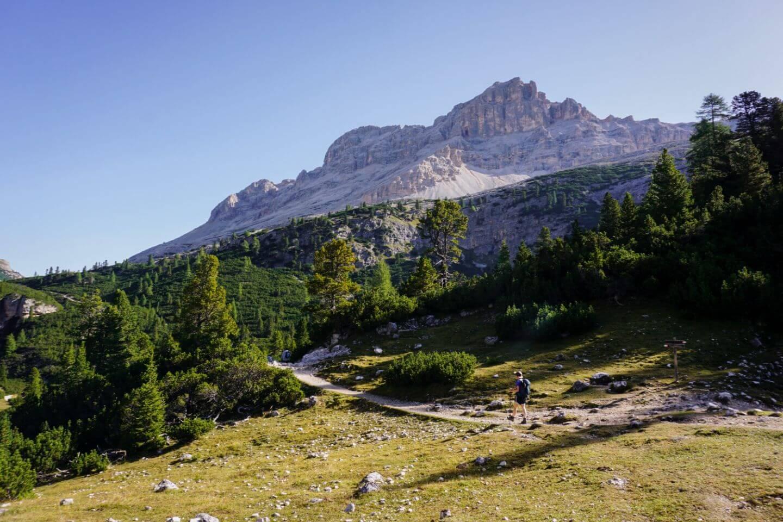 Trail 11, Capanna Alpina to Rifugio Fanes Day Hike, Dolomites, Italy