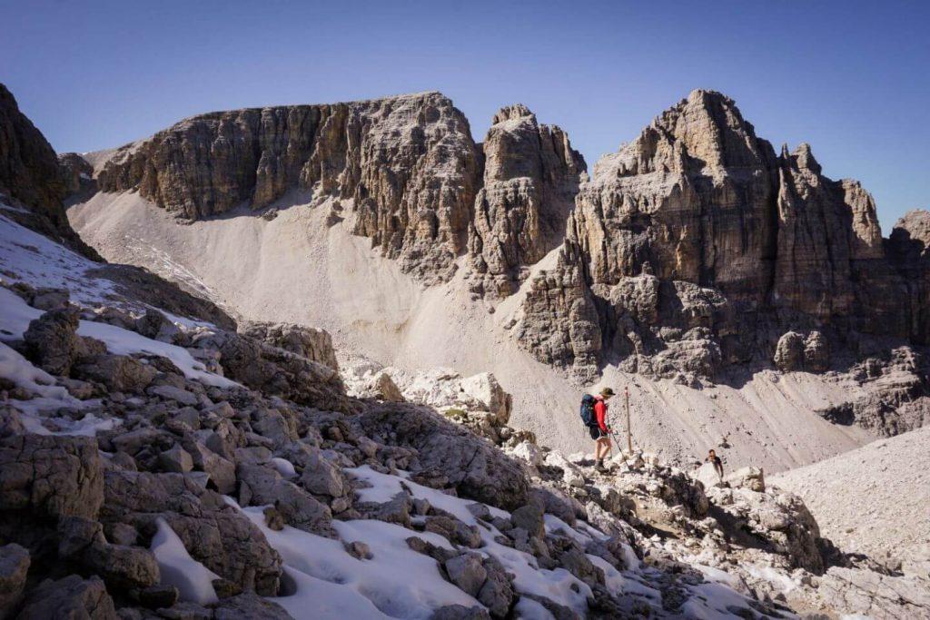 Hiking to Piz Pisciadù, Sella Group, Dolomites, Italy