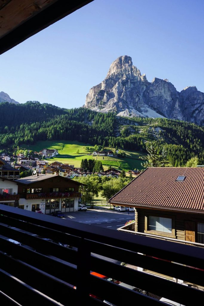 Balcony view from Sassongher suite, Hotel Col Alto - Best Places to Stay in Alta Badia