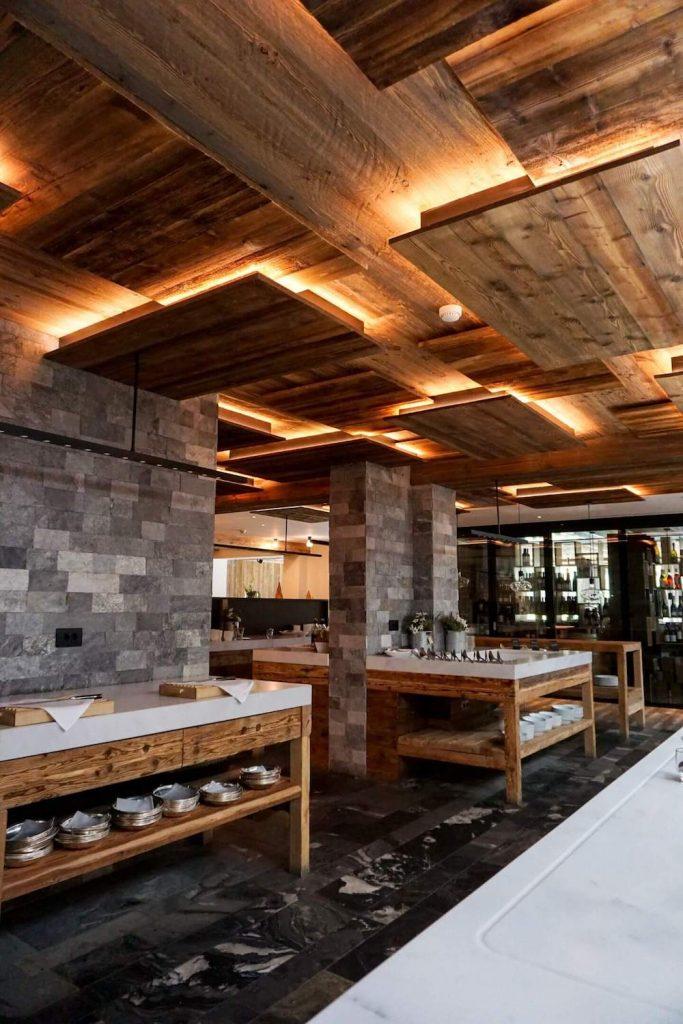 Dining Buffet Area in Hotel Col Alto, Corvara, Alta Badia