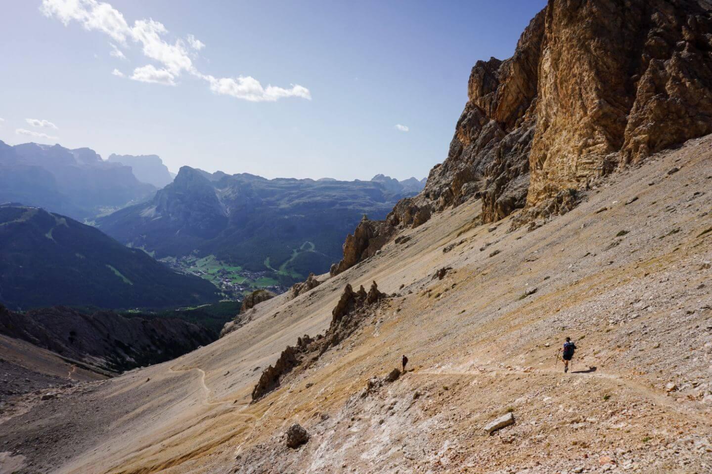 Forcella Medesc to La Villa, Trail 12, Dolomites, Italy
